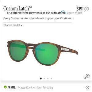 Custom Oakley Latch Sunglasses